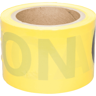 3M 301 Scotch Barricade Tape, CAUTION, 3 in x 300 ft, Yellow