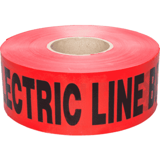 3M 302-R-3X1000FT Caution Buried Electric Line Below Tape