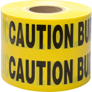 3M 370-Y-6X1000FT Scotch Buried Barricade Tape , CAUTION BURIED ELECTRIC LINE BELOW, 6 in x 1000 ft, Yellow