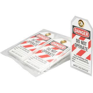 Brady 65520 DANGER Do Not Operate Energy Source Lockout Tagout Tags