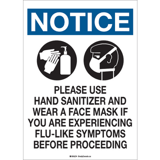 Brady COV7SS Health and Safety Sign - 14 X 10 SS PLEASE USE HAND SANITIZER