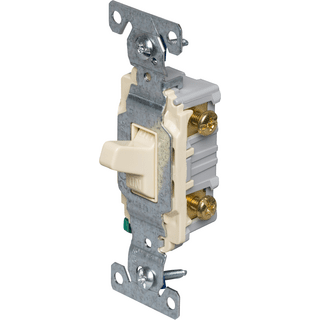 Eaton Cooper Wiring CS220V Double-Pole Switch, 120/277V, 20A, Ivory