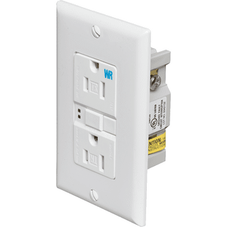 Eaton Cooper Wiring TWRSGF15W Tamper & Weather Resistant Self-Test GFCI Receptacle, White