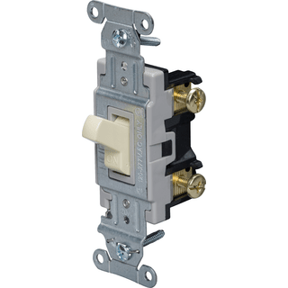 HUBBELL CONTROL SOLUTIONS CS120I 1-Pole Specification Commercial Toggle Switch, 120/277V, 20A, Ivory