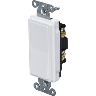 HUBBELL CONTROL SOLUTIONS DS120W 1-Pole Specification Grade Decorator Switch, 120/277V, 20A, White