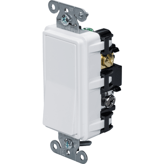 HUBBELL CONTROL SOLUTIONS DS420W 4-Way Specification Decorator Switch, 120/277V, 20A, White