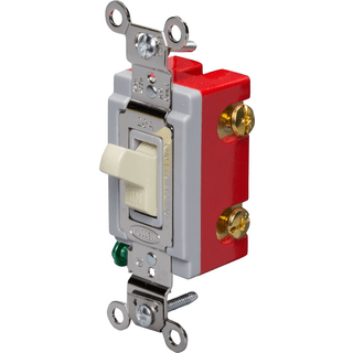 HUBBELL CONTROL SOLUTIONS HBL1221I Single-Pole Heavy Duty Toggle Switch,Ivory