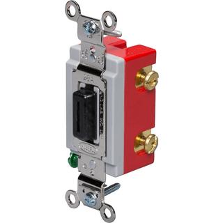HUBBELL CONTROL SOLUTIONS HBL1221L Single Pole Heavy Duty Locking Switch, 120/277V, 20A