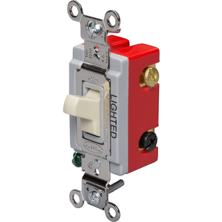 HUBBELL CONTROL SOLUTIONS HBL1223IL 3-Way Heavy Duty Illuminated Toggle Switch,  Ivory