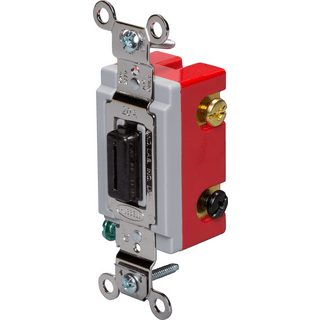 HUBBELL CONTROL SOLUTIONS HBL1223L 3-Way Heavy Duty Locking Switch, 120/277V, 20A
