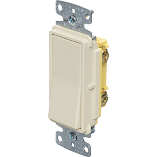 HUBBELL CONTROL SOLUTIONS RSD115I 1-Pole Decorator Switch, 120/277V, 15A, Ivory