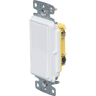 HUBBELL CONTROL SOLUTIONS RSD315W Double Pole, Three Way and Four Way Decorator Quiet Rocker Switch