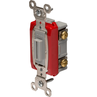 Legrand-Pass & Seymour PS20AC1-L Industrial Extra Heavy-Duty Specification Grade Lock Switch  Back & Side Wire, Gray
