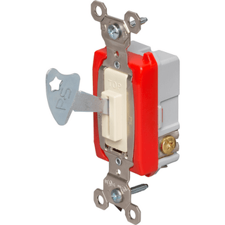 Legrand-Pass & Seymour PS20AC3-IL Industrial Extra Heavy-Duty Specification Grade Lock Switch, Ivory