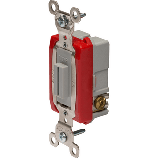 Legrand-Pass & Seymour PS20AC3-L Industrial Extra Heavy-Duty Specification Grade Lock Switch Back & Side Wire, Gray