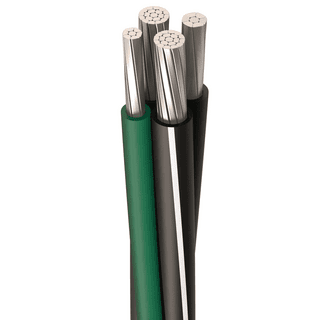 MBL-HM-FDR-2-2-4-6-A #2,#4,#6 AWG, 6 Strands, Neutral 7 Strands, Grounding 6 Strands, MBL Cable, Aluminum, Black and Green, 4, Cut Length