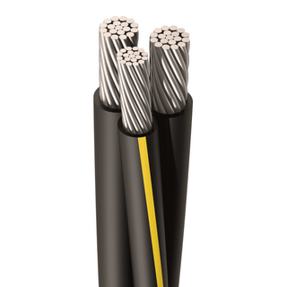 URD-CONVERSE 2/0-2/0-1 AWG, 19 Strands, Direct Burial Cable, Aluminum, Black, 2 W/Neutral, Cut Length