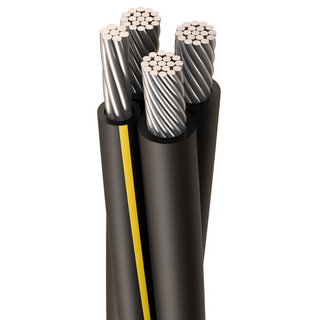 URD-NOTREDAME 1/0-1/0-1/0-2 AWG, 19 Strands, Direct Burial Cable, Aluminum, Black, 3 W/Neutral, Cut Length