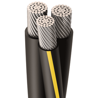 URD-RIDER 500-500-350 MCM, 37 Strands, Direct Burial Cable, Aluminum, Black, 2 W/Neutral, Cut Length
