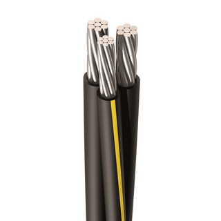 URD-STEPHENS 2-2-4 AWG, 7 Strands, Direct Burial Cable, Aluminum, Black, 2 W/Neutral, Cut Length