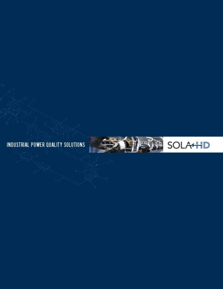 Sola HD Industrial Power